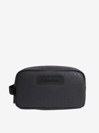 Černá pánská vzorovaná kosmetická taška Calvin Klein