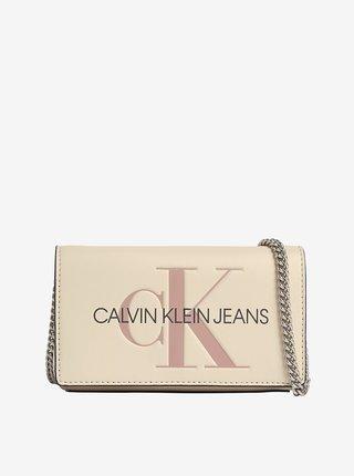 Krémová dámská crossbody kabelka Calvin Klein