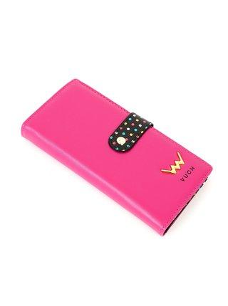 Černo-růžová dámská malá vzorovaná peněženka VUCH Belle