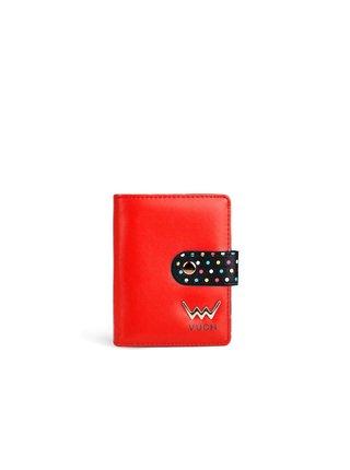 Černo-červená dámská malá vzorovaná peněženka VUCH Daenerys