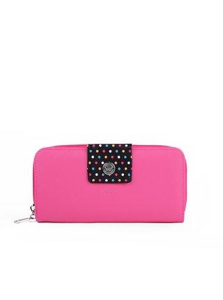 Černo-růžová dámská malá vzorovaná peněženka VUCH Whitney Watter