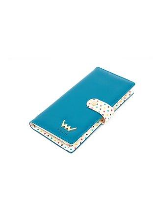 Krémovo-modrá dámská malá vzorovaná peněženka VUCH Drop Dana