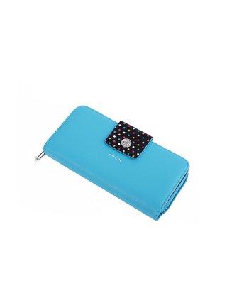 Černo-modrá dámská malá vzorovaná peněženka VUCH Ivy Iris