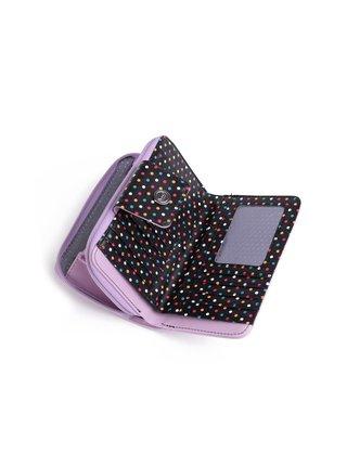 Černo-fialová dámská malá vzorovaná peněženka VUCH Delicate Damie