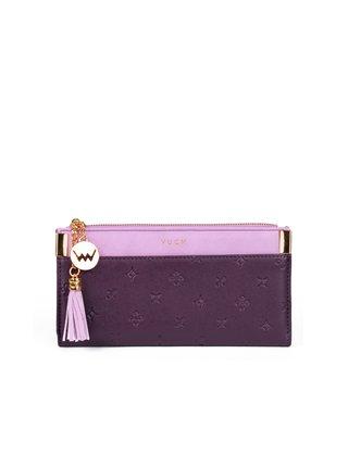 Růžovo-fialová dámská malá vzorovaná peněženka VUCH Treasure