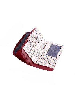 Bílo-červená dámská malá vzorovaná peněženka VUCH Rosa