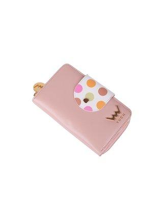 Bílo-růžová dámská malá vzorovaná peněženka VUCH Loris