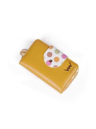 Bílo-žlutá dámská malá vzorovaná peněženka VUCH Vicky