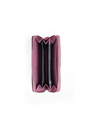 Růžovo-tyrkysová dámská malá vzorovaná peněženka VUCH Virdy