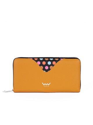 Černo-žlutá dámská malá vzorovaná peněženka VUCH Ronja