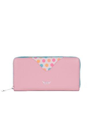 Modro-růžová dámská malá vzorovaná peněženka VUCH Zuki
