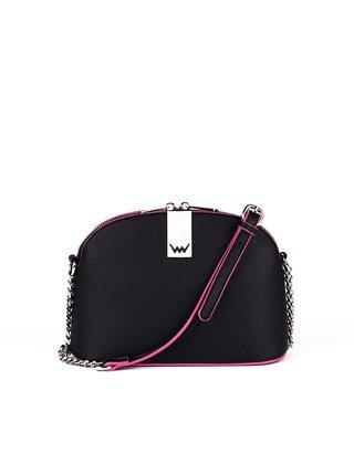 Růžovo-černá dámská malá crossbody kabelka VUCH Denlow