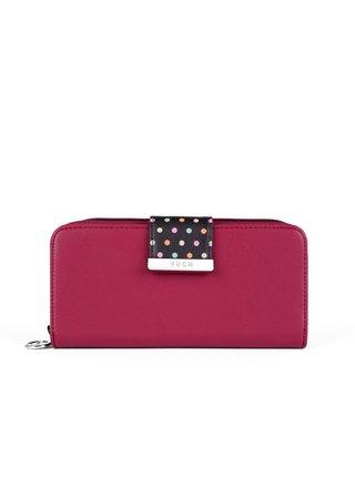 Černo-růžová dámská malá vzorovaná peněženka VUCH Chase