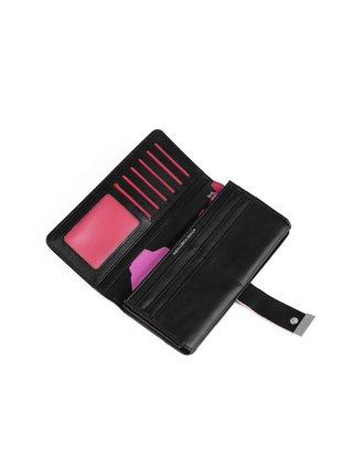 Růžovo-černá dámská malá vzorovaná peněženka VUCH Teresa