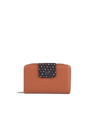 Černo-hnědá dámská malá vzorovaná peněženka VUCH Giada