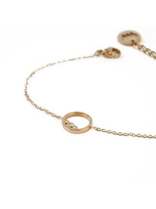 Dámský náramek s motivem kroužku ve zlaté barvě VUCH Ringy Gold