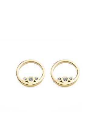 Dámské náušnice s motivem kroužků ve zlaté barvě VUCH Ringy Gold