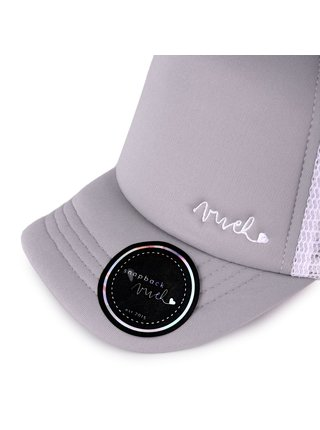 Bílo-šedá dámská kšiltovka s nápisem VUCH Joane
