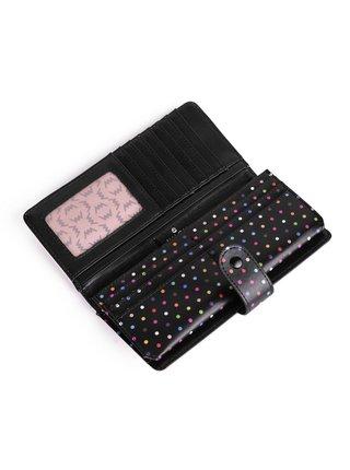 Černo-růžová dámská malá vzorovaná peněženka VUCH Aldura