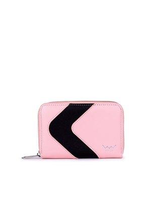 Černo-růžová dámská malá vzorovaná peněženka VUCH Elfrida