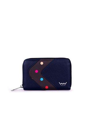 Tmavě modrá dámská malá vzorovaná peněženka VUCH Danka