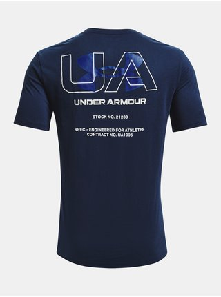 Tričko Under Armour ENGINEERED SYMBOL SS - tmavě modrá