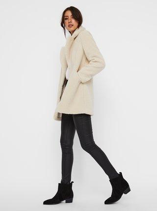 Krémový kabát z umelého kožúšku VERO MODA Donna
