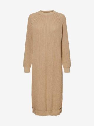 Béžové svetrové šaty Noisy May Lucia