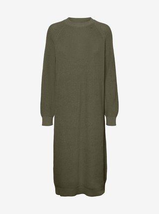 Kaki svetrové šaty Noisy May Lucia