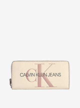 Peňaženky pre ženy Calvin Klein - krémová