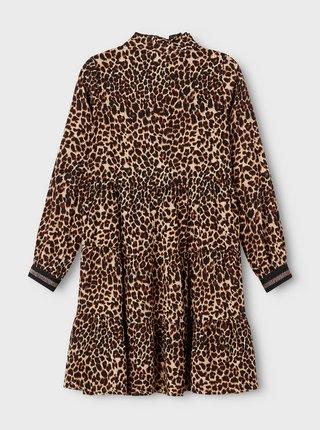 Černo-hnědé holčičí vzorované šaty name it Nagira