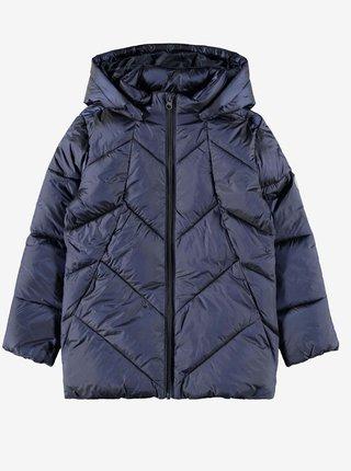Tmavě modrá holčičí zimní prošívaná bunda name it Madia