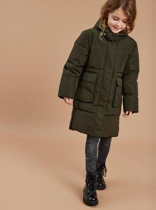 Kaki dievčenský zimný prešívaný kabát name it Mary