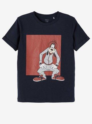 Tmavomodré chlapčenské tričko s potlačou name it Goofy