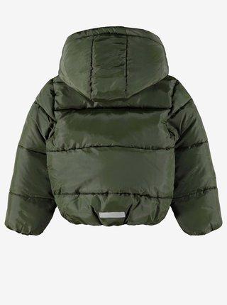 Khaki klučičí zimní prošívaná bunda name it Make