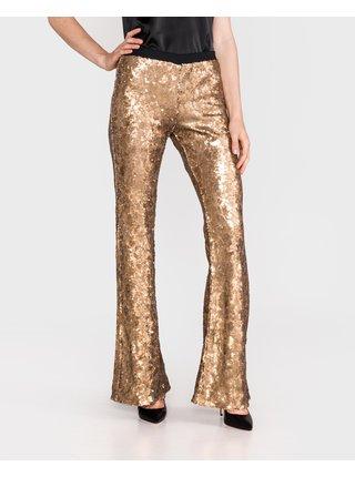 Nohavice pre ženy TWINSET - zlatá
