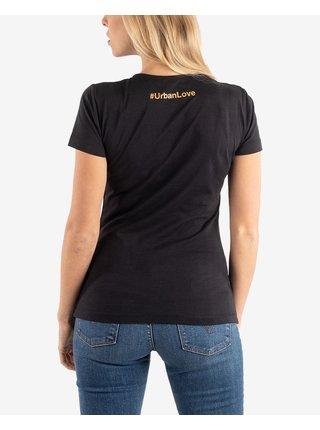 Tričká s krátkym rukávom pre ženy Urban Rulez - čierna
