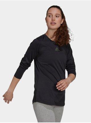 Tričká s dlhým rukávom pre ženy adidas Performance - čierna