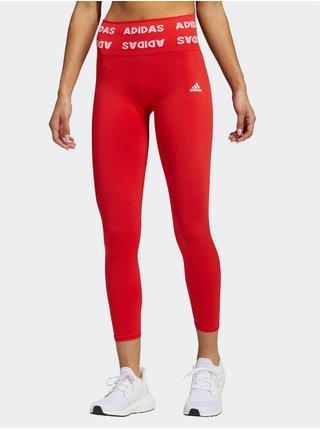 Legíny pre ženy adidas Performance - červená