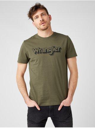 Tričká s krátkym rukávom pre mužov Wrangler - zelená