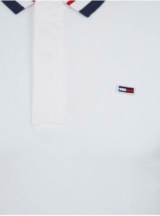 Polokošele pre mužov Tommy Jeans - biela