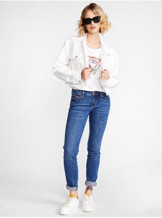 Tričká s krátkym rukávom pre ženy Guess - biela