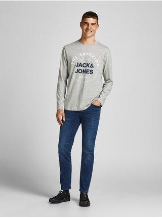 Tričká s dlhým rukávom pre mužov Jack & Jones - sivá