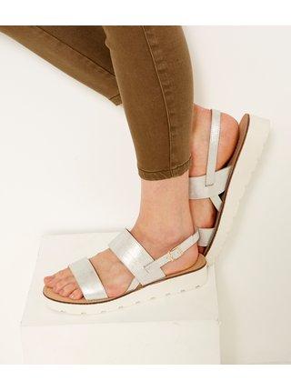 Sandále ve stříbrné barvě CAMAIEU
