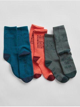 Barevné klučičí vysoké ponožky, 3ks