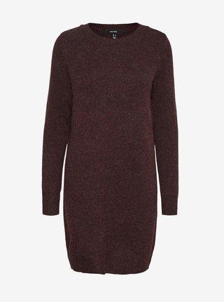 Vínové svetrové šaty VERO MODA Doffy