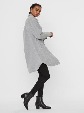 Svetlošedý ľahký kabát VERO MODA Fortunelola