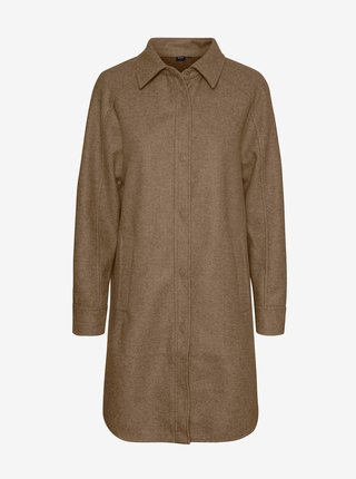 Hnědý lehký kabát VERO MODA Fortunelola
