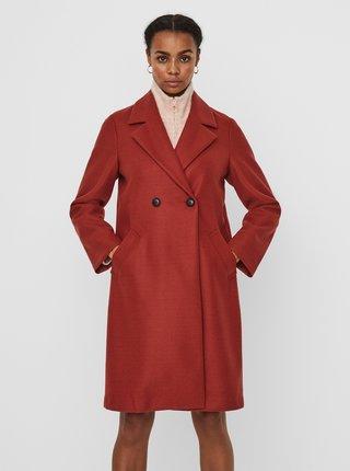Trenčkoty a ľahké kabáty pre ženy VERO MODA - tehlová