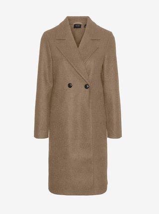 Hnědý kabát VERO MODA Fortuneaddie